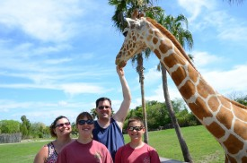 Jennifer, Jessica, James and Justin Grammer on vacation in Florida