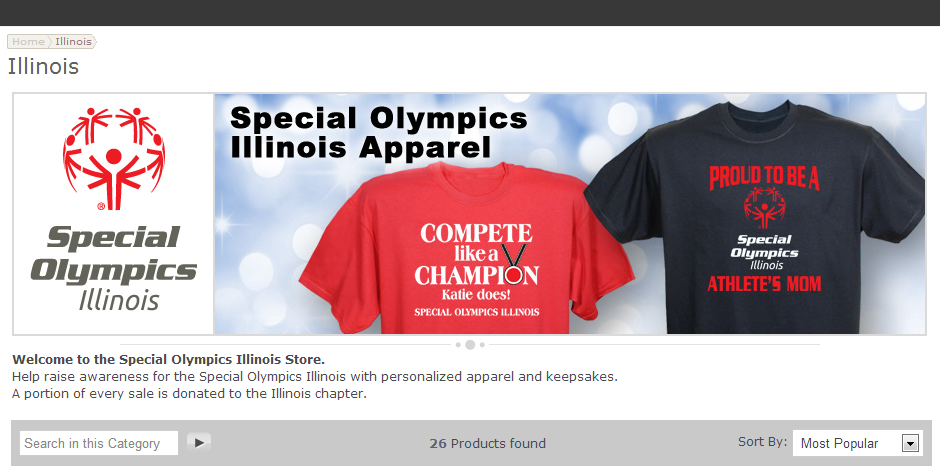 df18ae94724 Special Olympics Illinois proudly opened its first online apparel store in  December! Fans of Special Olympics Illinois are now be able to purchase  SOILL ...