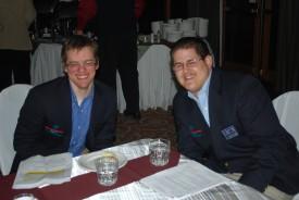 Eric Baumann, right, with fellow SOILL athlete board member Jim Morgan