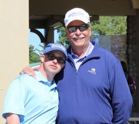 Bob Gavelek, right, with athlete Ben Brizzolara