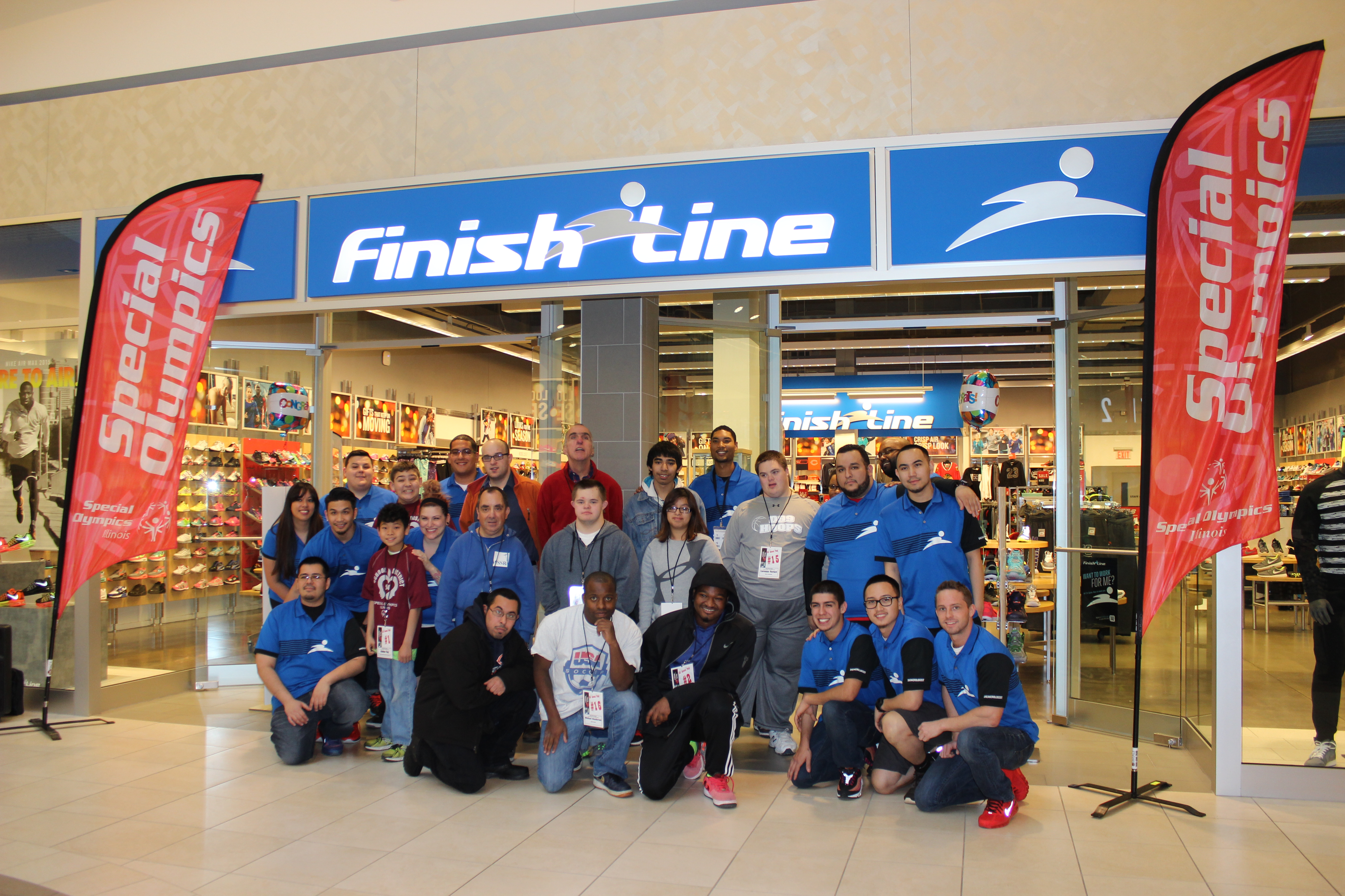 20 athletes receive new shoes from finish line special olympics