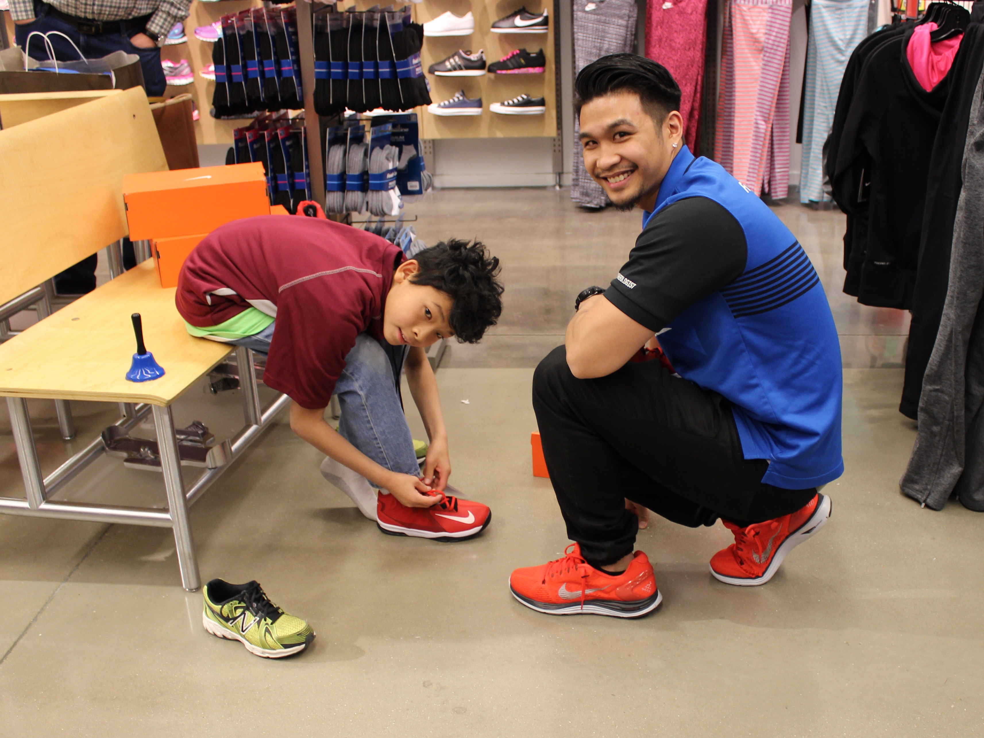 20 athletes receive new shoes from finish line