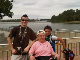 Kevin O'Brien at Walt Disney World last year with his family