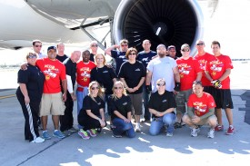 Team Clover from Clover Technologies is shown at the 2014 Plane Pull