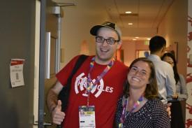 Daniel with Special Olympics Minnesota athlete Danielle Liebl