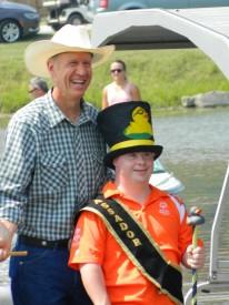 Gov. Bruce Rauner and Duck Ambassador John Henley