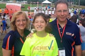 Chris, Rikki and Steve Kirsch at Summer Games