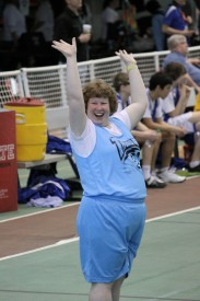 Shanny McGraw competes at State Basketball