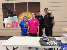 Hayden Davis worked with local officers at the Pekin Dunkin' Donuts Cop on Rooftop event