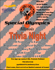 McHenry PD Trivia Night @ Smith Central Garage | McHenry | Illinois | United States