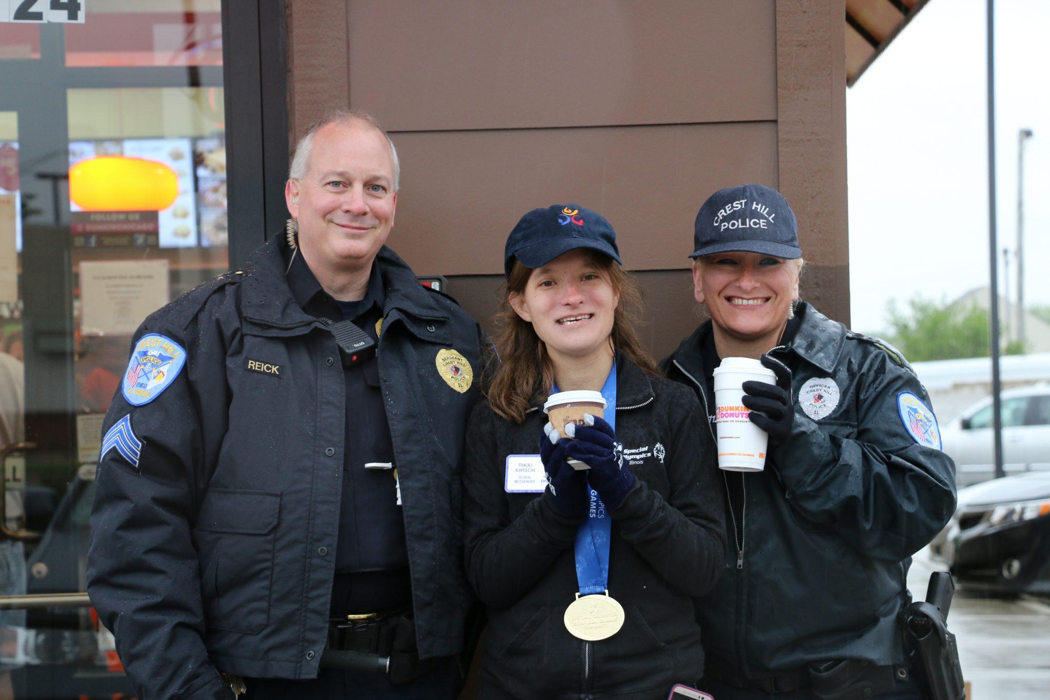 Dunkin Cop On A Rooftop Special Olympics Illinois