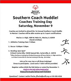 Southern Coach Huddle Coaches Training Day @ Marion Jr. High