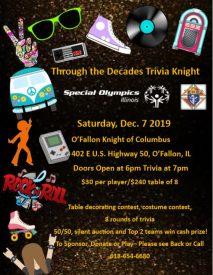 Through the Decades Trivia Knight @ O'Fallon Knights of Columbus
